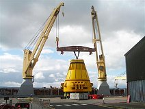 Huge Buoy Lift at Invergordon, Scotland